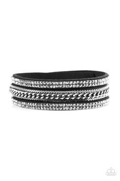 Unstoppable   $5 - No Tax #bracelet #uniquelyurban #black #suede #chain #rhinestones #yourblingboss