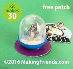 "Girl Scout Swaps Craft Kit: ""Penguin Snow Globe"" with Free patch"