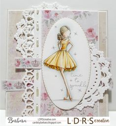 Cards by Barbara: 💛 Time to sparkle. Distress Ink, Little Darlings, Cool Cards, Creative Cards, Scrapbook Cards, Paper Art, Projects To Try, Card Making, Doodles