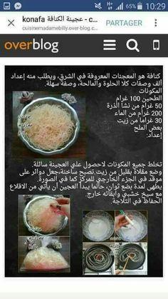 طريقة صنع الكنافة الشعر Ph Food Chart, Food Charts, Gluten Free Croissant, Ramadan, Barbecue, Caramel, Eat, Sport, Vegetables