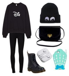 """Untitled #374"" by kaylee10-i ❤ liked on Polyvore featuring Frame Denim, Dr. Martens and PhunkeeTree"