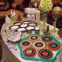 Iraqi weeding table  صينية المهر العراقية - صينية البخت