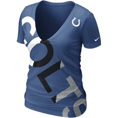 Nike Off-Kilter Tri-Blend NFL Indianapolis Colts Women's T-Shirt - Gym... ($32) ❤ liked on Polyvore