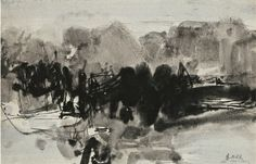 Chu Teh-Chun, Untitled (No. 86 ), Ink and Gouache on Paper