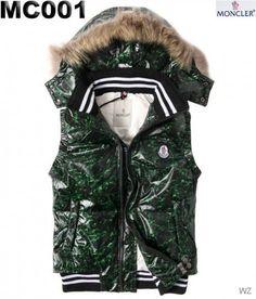 87365546529 FR Moncler pas cher - sans manche Doudoune Moncler homme Brillant Vert  Belted Coat