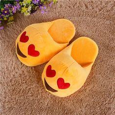 Heart Type Emoji Slippers Cartoon Plush Slipper Home Women Man Children Slippers Winter House Shoes Home Indoor Slipper