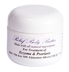 Relief Body Butter: For Treatment of Eczema & Psoriasis  Ingredients: This wonderful Body Butter as a beautiful mixture of Shea Butter, Bees Wax, Olive Oil, Emu Oil, 100% Pure Vitamin E Oil, Lavender 40/42 Essential Oil, Tea Tree Essential Oil, Lemon Grass Essential Oil, Rosemary Essential Oil.
