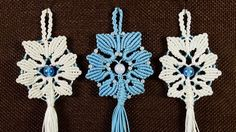 Alternate Snowflake Tutorial #Snowflake #Tutorial #DIY #Macrame #Christmas #Craft