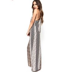 Maxi dress Beautiful and flattering amazing fit! Has drawstring tie to adjust the neck and back fitting Luna b Dresses Maxi