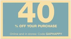Gap Canada Flash Sale: Save 40% Off Your Purchase with Promo Code Today Only http://www.lavahotdeals.com/ca/cheap/gap-canada-flash-sale-save-40-purchase-promo/131916