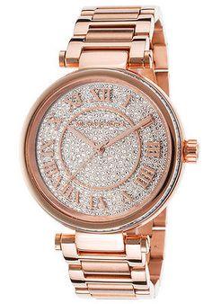 MICHAEL KORS MK5868 SKYLAR Rose Gold Tone Crystal Glitz Dial Women Watch