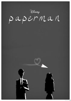 Paperman poster designed by Jeff Turley for Disney studios. Great short animation about an office worker, who discovers that paper airplanes are instrumental in meeting a girl in ways he never expected to meet...