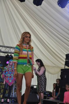 Quirky crocheted hot-pants & cardigan!