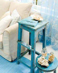 Ideas para reciclar aquellos banquitos viejitos de la casa