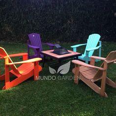 Muebles de jardin mesas y sillas de colores en for Jardin 7 colores bernal