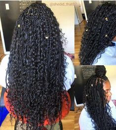 Box Braids - goddess braids - Bohemian Box Braids - goddess braids -Bohemian Box Braids - goddess braids - Bohemian Box Braids - goddess braids - Long Hair Styles For Black Girls Braids With Shaved Sides, Braids With Curls, Girls Braids, Twist Braids, Twists, Cornrows With Box Braids, Mohawk Braid, Jumbo Braids, Curls Hair