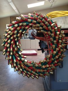 Hand made shotgun shell wreath... Made by me