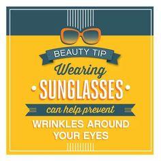 Sunglasses prevent wrinkles