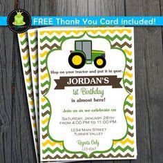 Free Printable Kids Tractor Birthday Invitation orderecigsjuiceinfo