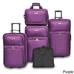 Travelers Choice Versatile 5-piece Luggage Set | Overstock.com Shopping - The Best Deals on Five-piece Sets