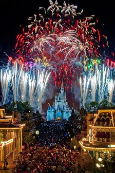 Wishes at Magic Kingdom - Walt Disney World in Orlando, Florida.   Someone pls take me here