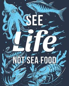 See life... not sea food. Protect marine animals like bluefin tuna from extinction! Eat sustainable sushi