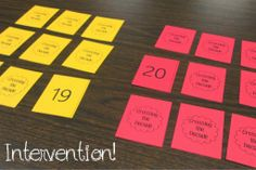 Math Intervention: Crossing the Decade concentration game with FREE printable cards!