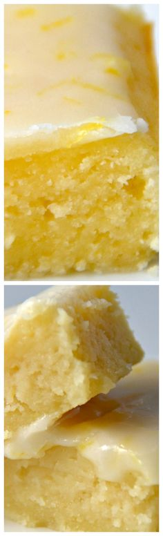 Lemonies (Lemony Brownies) ~ Packed with lemon flavor and topped with a tangy glaze, they are a real sweet treat.
