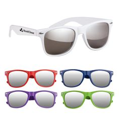 8b921218302d7 Silver Mirrored Malibu sunglasses - Promotional Sunglasses personalized  with your custom imprint or logo.