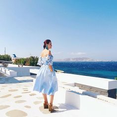 Blue. #greece #mykonos My Kind Of Love, Mykonos, Fasion, Photography Ideas, Cloths, Greece, Queens, Swimsuits, Magic