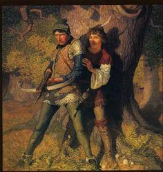 Two favorites: N.C. Wyeth  Painted illustration for Robert Louis Stevenson book The Black Arrow.