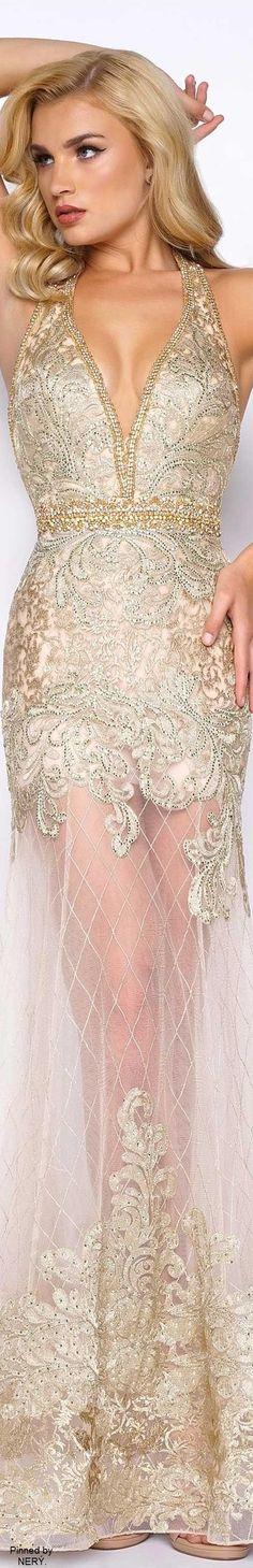 Mac Duggal Prom Dress 2017-Gold
