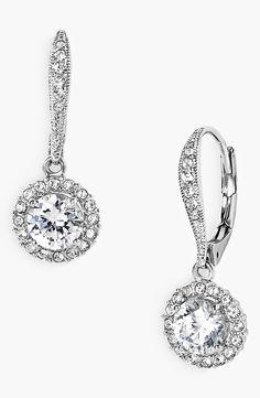 Dazzle in these silver drop earrings.