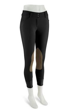 RJ Classics Black Gulf Knee Patch Breeches