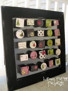 Holiday Magnet Board Advent Calendar | AllFreeChristmasCrafts.com