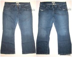 Lot 2 MAURICES Jeans ADISON FLARE Womens PLUS Size 22 Stretch Denim 3X  #Maurices #Flare