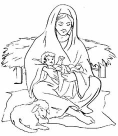 Mary Treat Jesus Coloring Pages