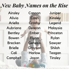 These new baby names are getting more popular!  #babynames #popularbabynames #boynames #girlnames
