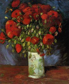 Vase with Red Poppies (Vincent van Gogh)