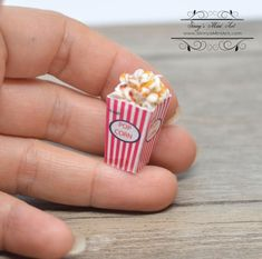 1:12 Dollhouse Miniature Transparent Plastic Dessert Pot Pastry Kitchen Bd