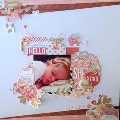 Papercrafting ideas: scrapbook layout idea. #papercraft #scrapbooking #layouts. February Mood Board - Jot Magazine by Lauren Hender