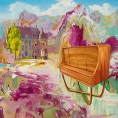 Stephen Bush - Michael Reid Stephen Bush Wooloomanata, 2016 oil and enamel on linen 95 x 95 cm framed