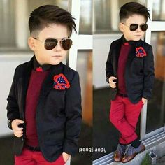 Image may contain: 2 people Toddler Haircuts, Little Boy Haircuts, Baby Boy Dress, Baby Boy Swag, Kid Swag, Toddler Boy Fashion, Little Boy Fashion, Boys Fall Fashion, Fashion Children
