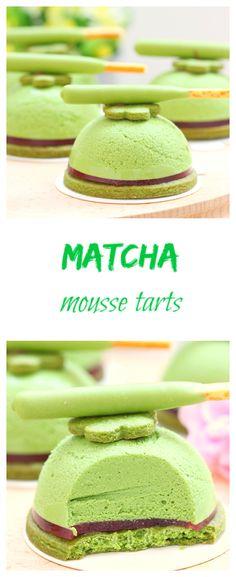Matcha mousse tarts