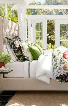 Poppy Botanical Duvet - Pottery Barn Bed Sets