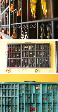 DIY earring holder from etsy~ great way to display earrings!