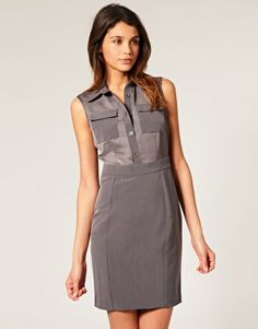 Pencil Shirt Dress with Fitted Waist. #WorkReady #ASOS