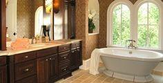 travertine tile bathroom floor - Google Search