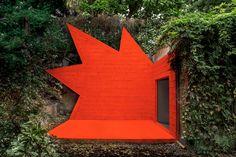 didier faustino embeds explosive architectural installation to paris' villa bloc