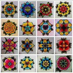 flash tattoo flowers - Google Search                              …